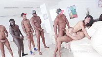6on1 with Black Busters with Jureka Del Mar 100% Balls Deep Anal Fuck
