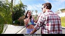 TeenCurves - Curvy Caramel Skinned Hottie Fucked By A Blind Man