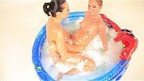 Czech lesbians in the pool