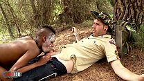 Skinny black tribal babe interacial sex