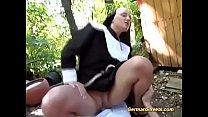 horny nun gets rough outdoor banged