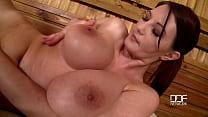 Vanessa Sweets sauna solo masturbate big natural tits