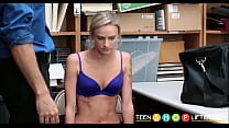 Tiny Tits Blonde Shoplifter Emma Hix Fucked By Security Officer For Stealing