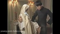 Two nuns give a blowjob to and fuck