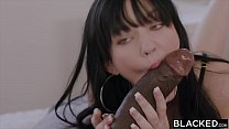 Interracial threesome with pale brunette