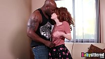 Young redhead babysitter drilled by BBC