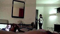 Inn Maid Catches Him Strokeing and Watches Him Sperm its a grand old pussy that is still tight