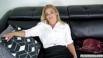 After a long day at work hot stepmom Blaten Lee got home so drained that she began to take her clothes off right in front of her stepson