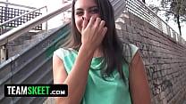 TeensLoveMoney - Spanish Waitress Fucked For Money