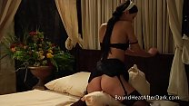 Young Lesbian Maid Undresses And Humps A Pillow For Pleasure