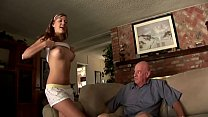 Blonde Teen Gets Fucked by Grandpa Because Boyfriend Needs Money