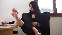 Bokep High heels and bare feet at Aga's office