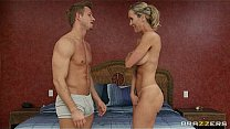 Sexy blond MILF Brandi Love is massaged & fucked by her masseur