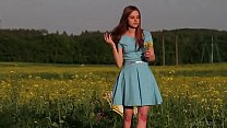 Ukrainian beauty Canara undressing outdoor