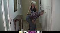 Old couple have fun with son's gf