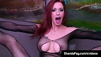 Canadian Cougar Shanda Fay Masturbates in a Member's Gift: A Crotch less Body Stocking that she wears perfectly! Finger Fucking at its Finest! Full Video & Shanda Live @ ShandaFay.com!