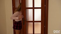 Double penetration makes college babe Lucy Heart scream & cream to the extreme
