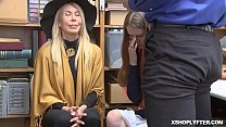 Both shoplyfting teen and grandmother is getting bang by the horny LP Officer  Erica Lauren
