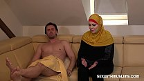 A Muslim whore began to prepare lunch late. Her husband was very angry. And therefore he took her head and thrust his cock deep into her throat. Muslim bitch sucked his hard cock. Busty Alexa rode and fucked hard to reform her fault