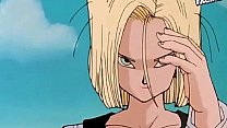 Android 18 is Cummed in by Vegeta!