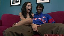 Petite spinner Tia Cyrus gets a big black cock fucking and facial