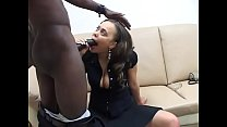 Black boss with lond cock call ebony secretary for some office fuck