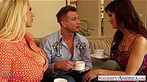 Superb moms Karen Fisher and Syren De Mer share cock