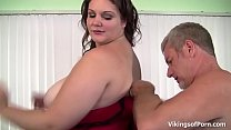 Flirty BBW gets a hard spank and pounded by big cock