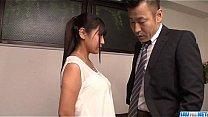 Ravishing fuck at the office along Yu Shinohara