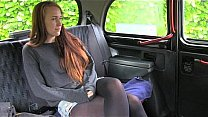 Love Creampie Naughty redhead student gets fucked by taxi driver for cash