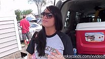 Bokep wild iowa home video tailgate partying with one girl drinking too much