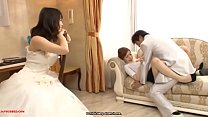 Man sex with bridesmaid beautiful in front of his wife