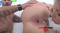 Susan Ayn & Ria Sunn lick & toy each others assholes to prep for DAP