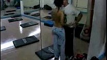 daring man has sex with trainer in the gym /100dates