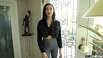Kinky Family - My younger 18 y.o. stepsister tried to sneak out of the house to a party