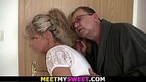 Threesome family orgy
