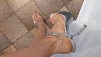 Stripper high heels sandals