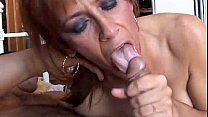Gorgeous ginger cougar enjoys a hard fuck