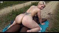 Thick Short Hair Blonde PAWG Rides BBC Outdoors - HELP ME FIND HER NAME