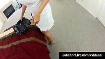 Busty MILF Julia Ann Blows Her Client!
