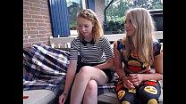 Lesbian friends dildoe themselves