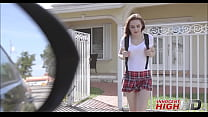 Young Virgin Schoolgirl Kelsey Kage Sex With Popular Guy From School