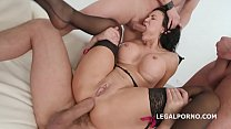 Double Overload 4on1 with Jasmine Jae Ass Fucked while Mouth Pissed in