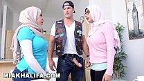 MIA KHALIFA - White Devil Fucks His Busty Arab Girlfriend And Her Hot Step Mom