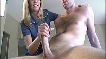 Blonde milfs helps with jerking off