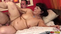 Hardcore old and young intercourse with a busty, hairy grandma