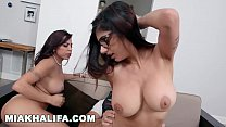 MIA KHALIFA - Arab Goddess In Hijab, Taking Infidel Dick Alongside Her Stepmom