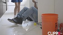 petite teen cant resist handyman