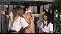 Two Japanese Schoolgirls CFNM Handjob and Facesitting