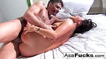 Asa Akira gets her ass fucked hard and filled